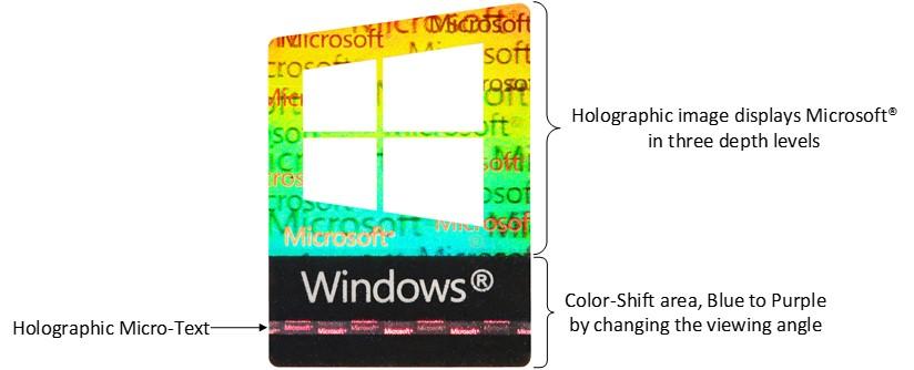 Genuine Microsoft Labels