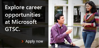 Explore career opportunities at Microsoft GTSC.