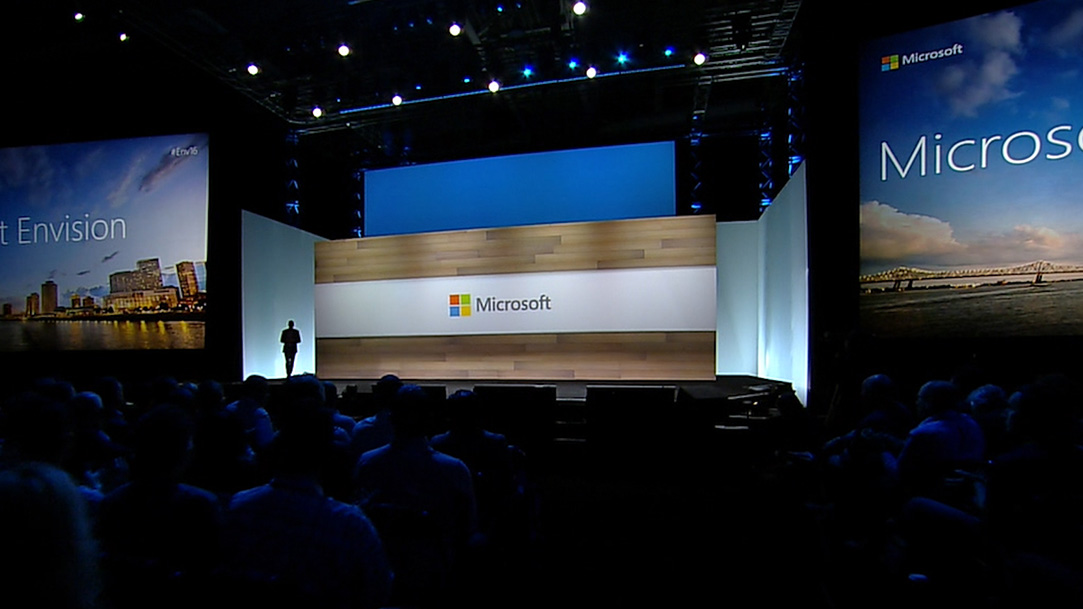 Satya Nadella on conference stage