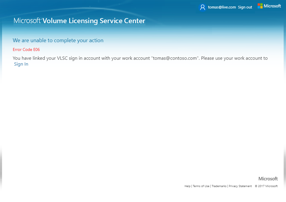 Volume Licensing Service Center