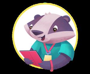 Illustration of community hero character