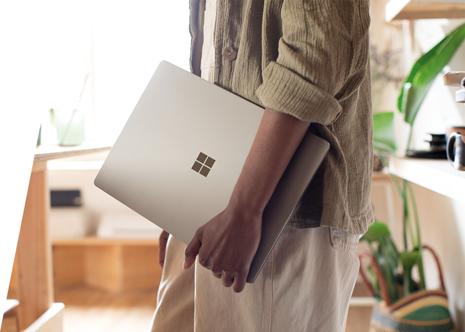 Surface Book 2 placed on a table portraying a Garden House
