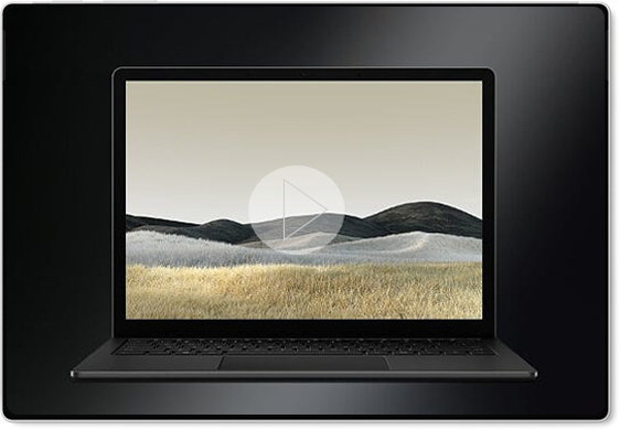 Black Surface Laptop 3 Desktop Screen