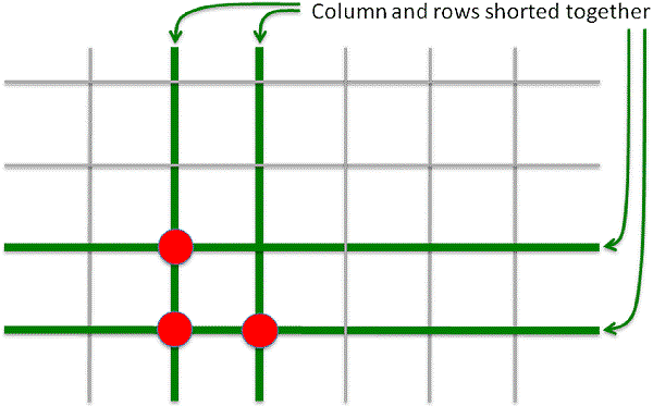 Pressing Three Keys (Shared Rows And Columns
