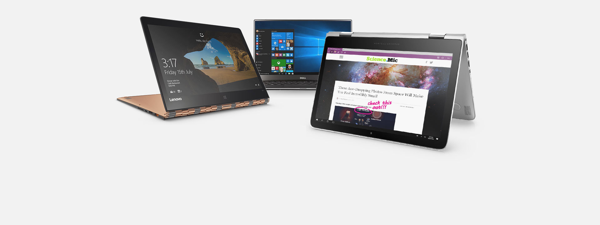 PCs, learn about our featured PCs
