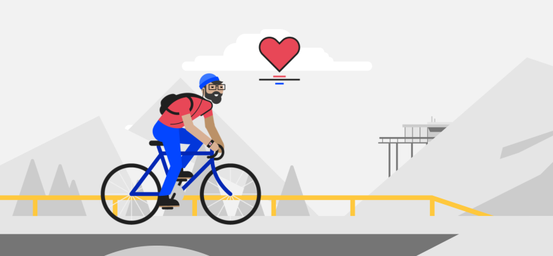 Home en bicicleta pel carrer