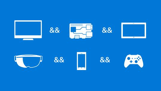 Několik různých ikon, získejte nástroje na vytváření aplikací pro Windows