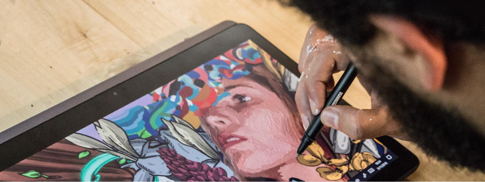 Pracovní prostor Windows Ink vrežimu tabletu Lenovo Yoga