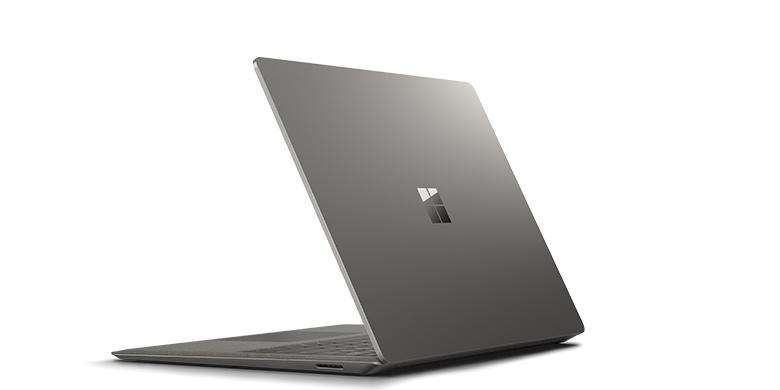 surface laptop i grafitguld set bagfra