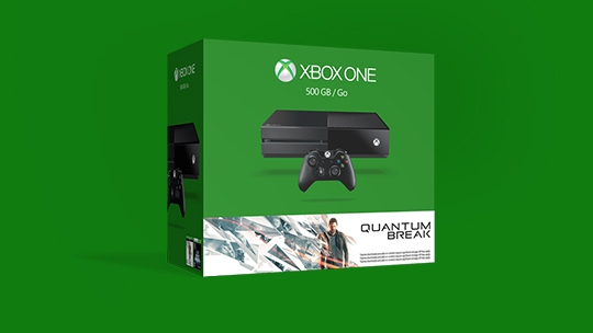 En boks med en Quantum Break-pakke til Xbox One.