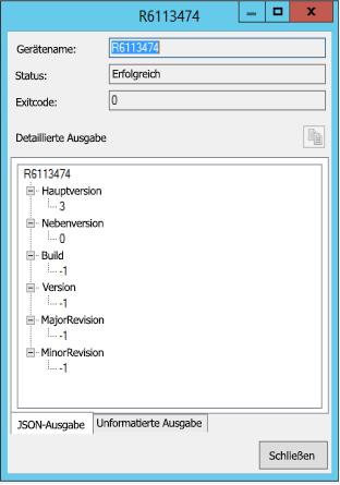 Skriptausführung im strukturierten JSON-Format anzeigen