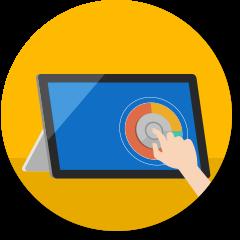 Surface Dial auf Computerbildschirm