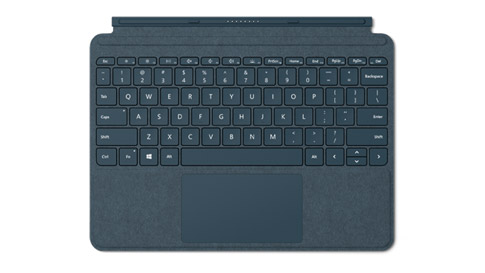 Surface Go Signature Type Cover in Kobalt Blau