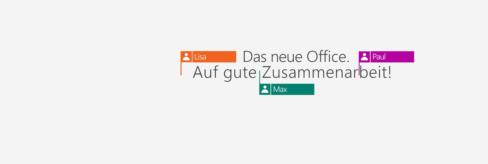 Kaufen Sie Office 365 und erhalten Sie die neuen Office 2016 Apps.