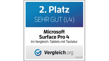 Platz Sehr Gut Microsoft Surface Pro 4 Vergleich.org