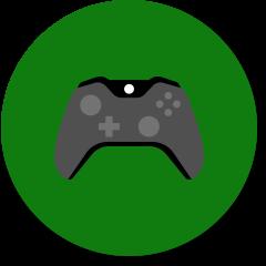 """Symbol """"Gaming"""" mit Controller"""