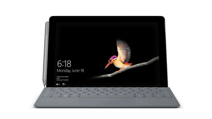 Geräte-Rendering von Surface Go