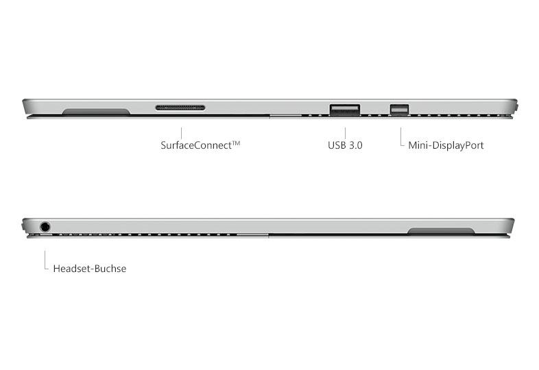 Microsoft surface pro 4 technische spezifikationen und