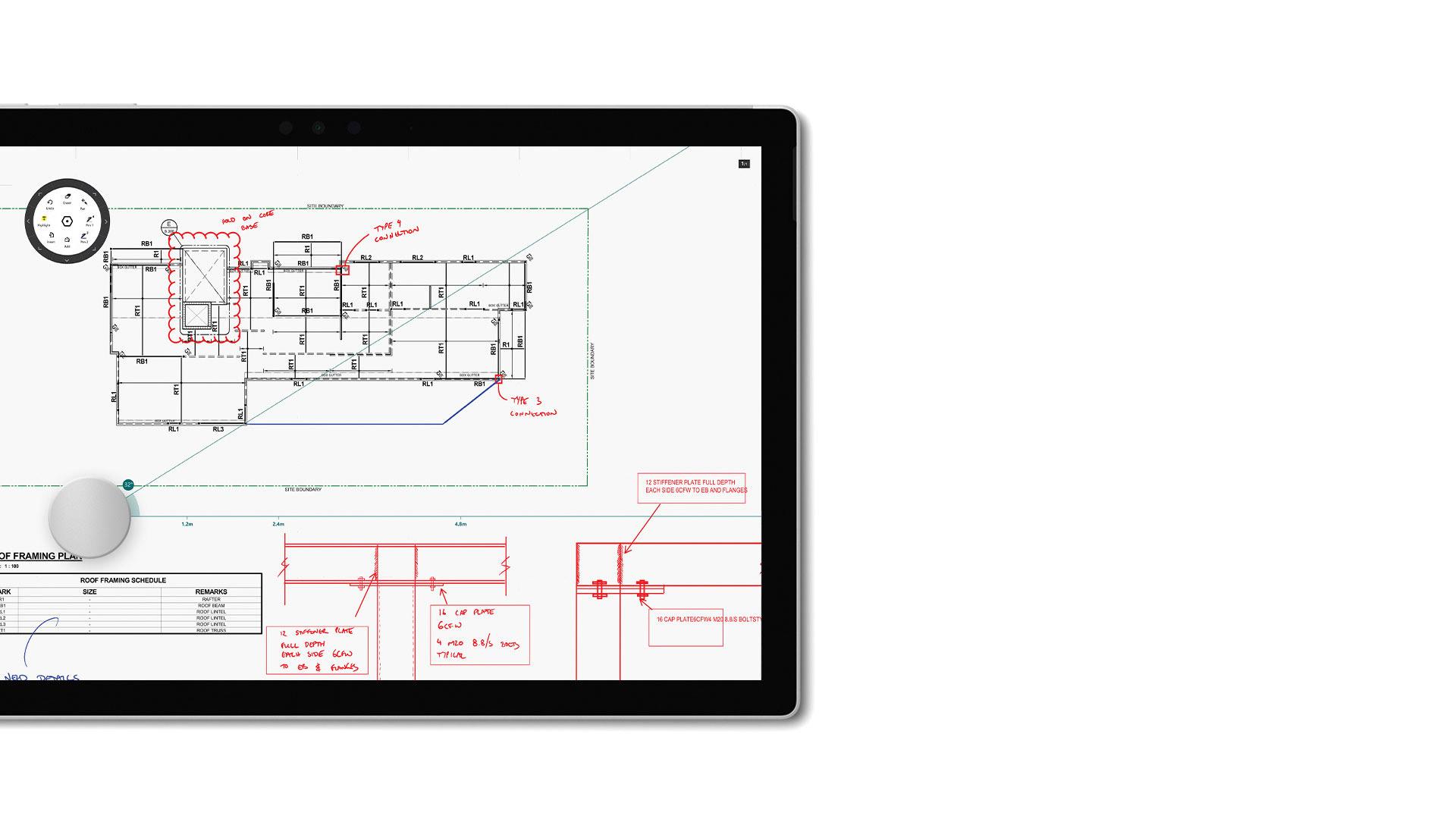 Drawboard PDF-Screenshot auf Surface.