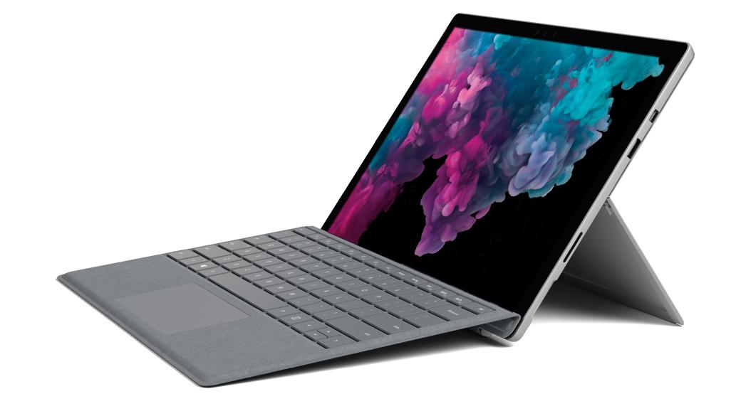 Surface Pro 6 – Platin Grau