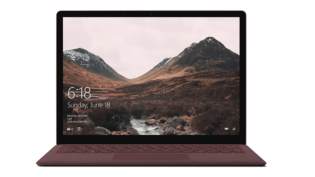 Surface Laptop mit Alcantara®-Tastatur.