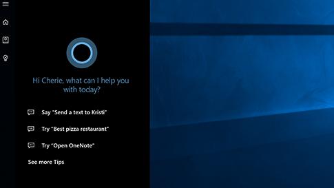 Cortana-Startbildschirm