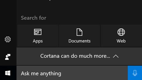 Cortana-Anmeldebildschirm