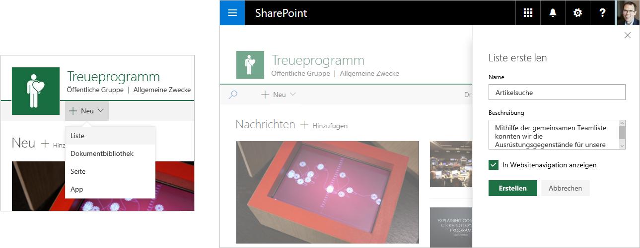 Verbundene sharepoint online teamwebsites in for Draw online share