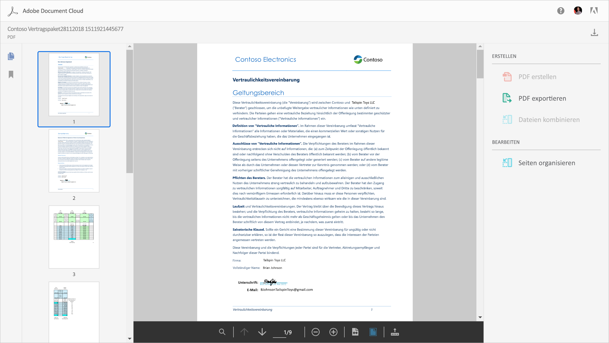 Adobe Document Cloud – neue integrierte PDF-Services in Office 365 ...