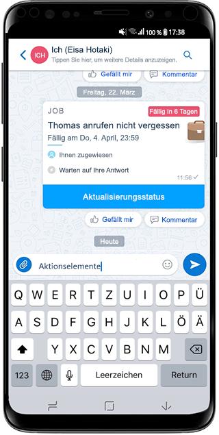 Screenshot von Microsoft Kaizala