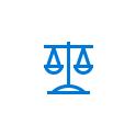 Branchensymbol für die Justiz