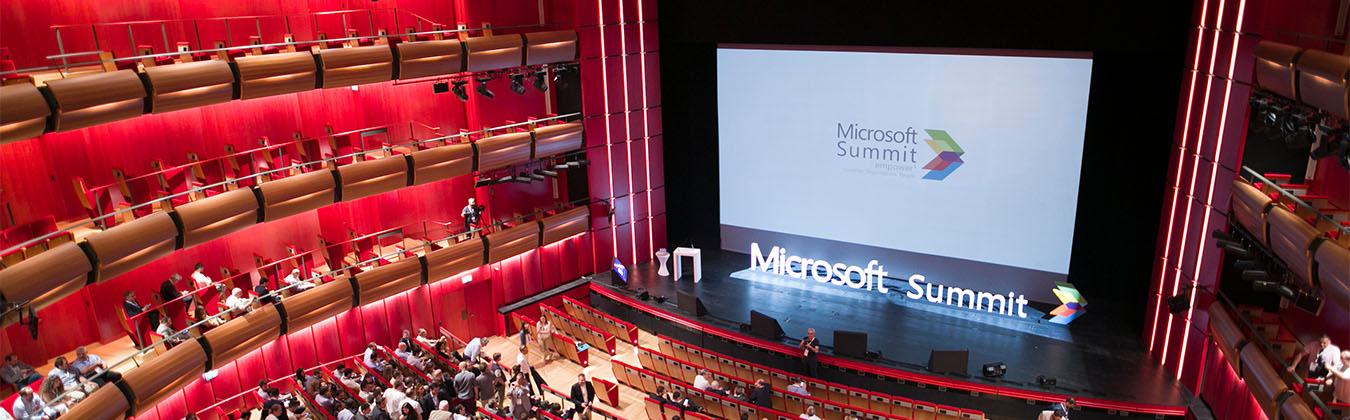 Microsoft Summit stage