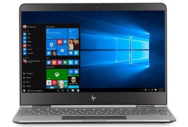 HP Spectre x360 13 with a Windows start screen