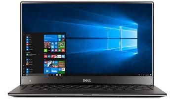 Laptop with Windows start screen