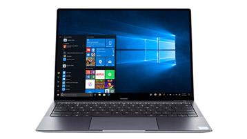 A Windows 10 laptop.