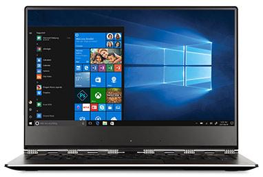 Lenovo Yoga 910 with a Windows start screen