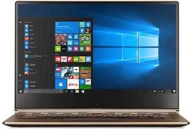 Lenovo Yoga 910 with Windows 10 start screen
