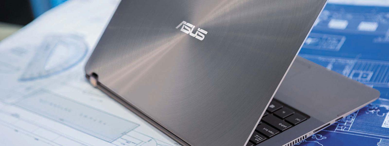The ASUS Zenbook Flip UX360UA on a desk.