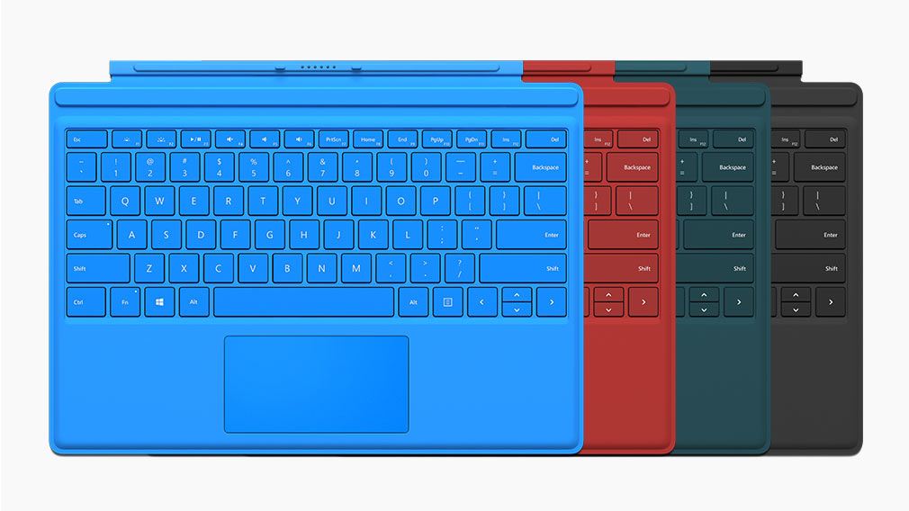 Surface Pro 4 type covers in multiple colours.