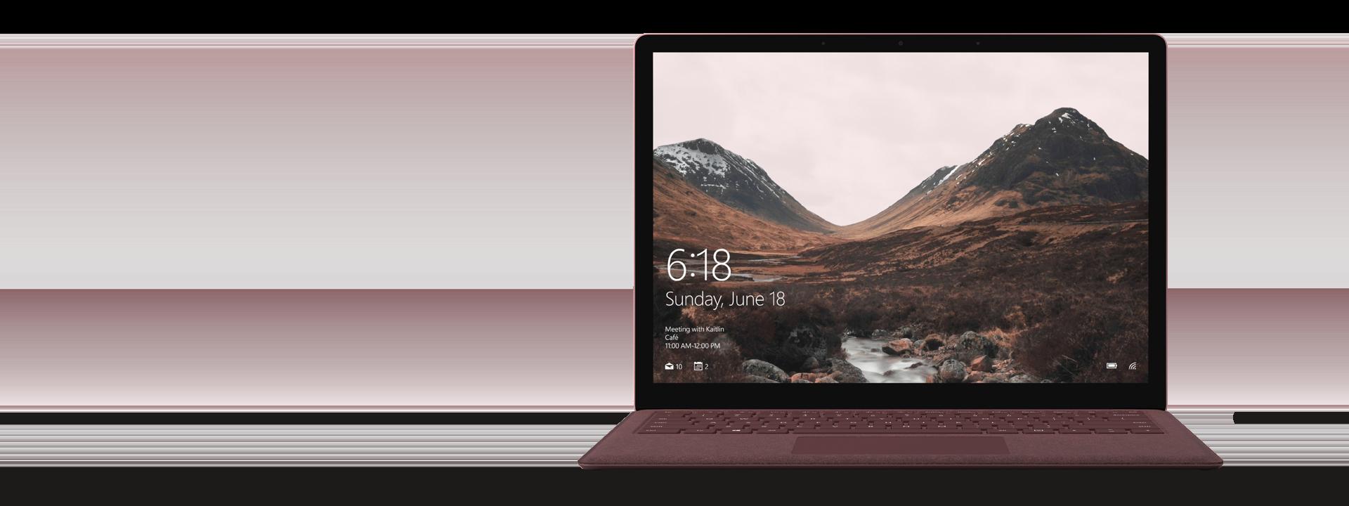 Burgundy Surface Laptop
