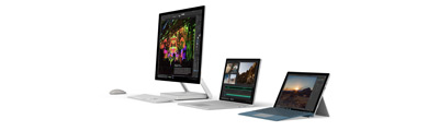 Surface device lineup with screens