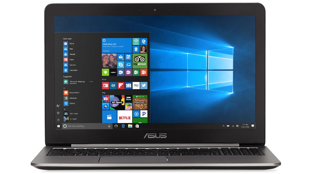 Front-facing image of the ASUS Zenbook Flip UX360UA