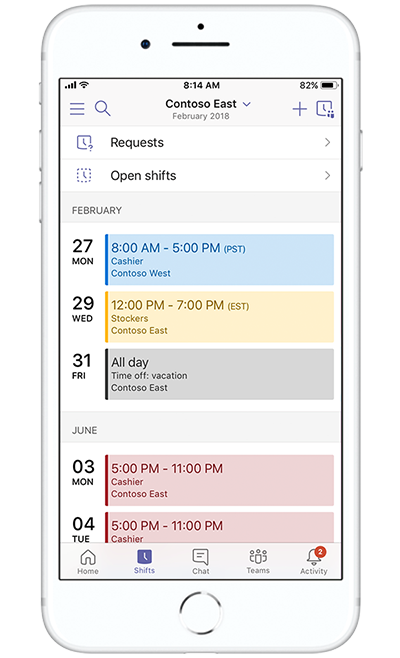 Image of a mobile device creating an event in Microsoft Teams.