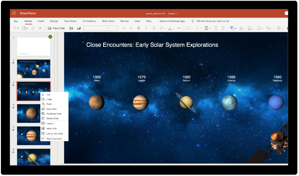 Image of an individual slide about to be copied in PowerPoint.