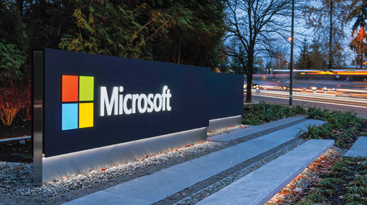 A sign from Microsoft campus