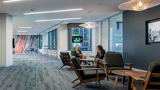 An office lobby