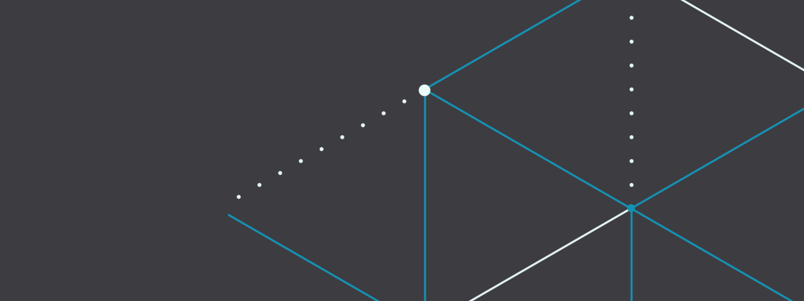 Illustration of solid and dotted lines on a dark grey background