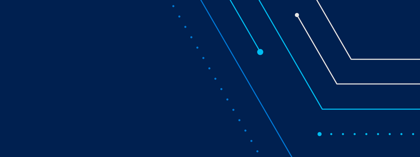 Illustration of blue solid and dotted lines on a dark blue background