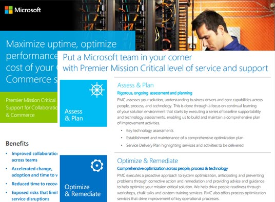 Premier Mission Critical Support for Collaboration and Commerce Datasheet