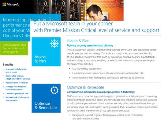 Premier Mission Critical for Microsoft Dynamics CRM Datasheet